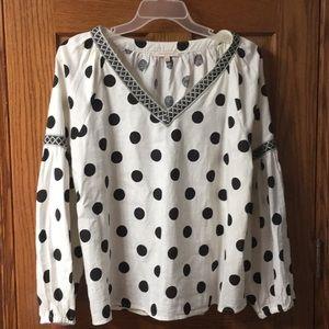 Polk a dot blouse